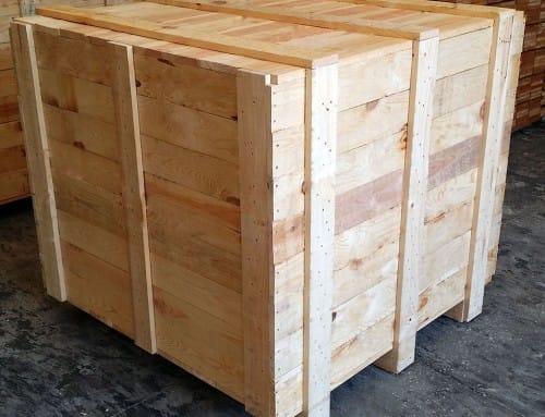 Embalajes de madera para las mercancías en la importación